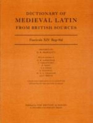 Dictionary of Medieval Latin from British Sources, Fascicule XIV Reg-Sal