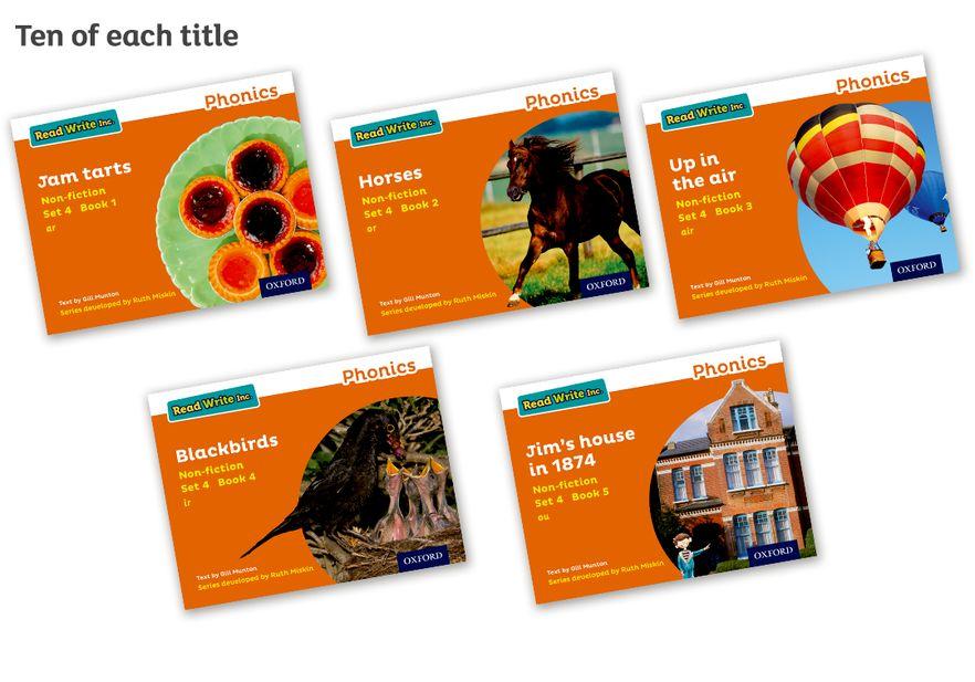 Read Write Inc Phonics: Orange Set 4 Non-fiction Pack of 50