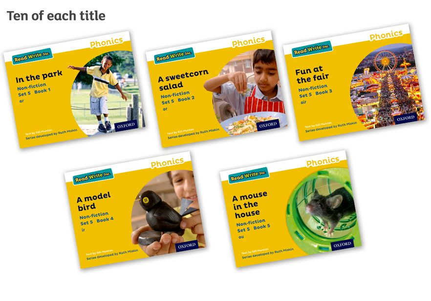 Read Write Inc Phonics: Yellow Set 5 Non-fiction Pack of 50