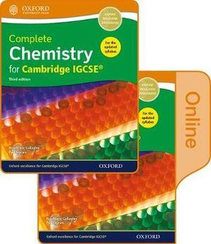Complete Chemistry for Cambridge IGCSE Print and Online Student Book Pack