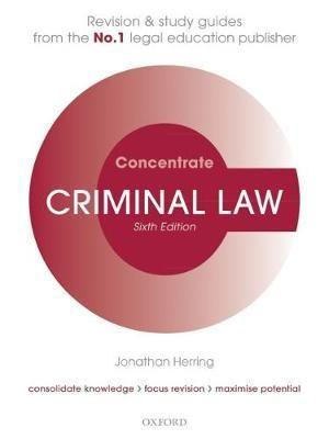 Criminal Law Concentrate