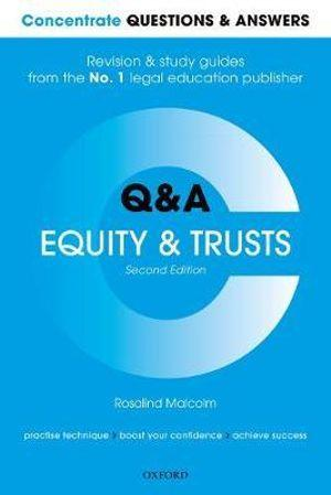 Concentrate Questions and Answers Equity and Trusts Law
