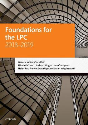 Foundations for the LPC 2018-2019