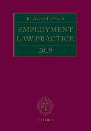Blackstone's Employment Law Practice 2018