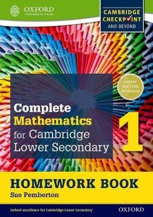 Oxford International Maths for Cambridge Secondary 1 Homework Book 1 (Pack of 15