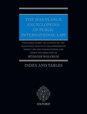 The Max Planck Encyclopedia of Public International Law Index