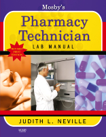 Mosby's Pharmacy Technician Lab Manual Revised Reprint 1e