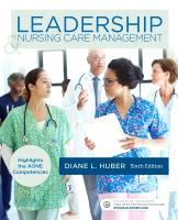 Leadership and Nursing Care Management 6e