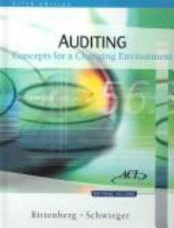 Auditing : Concepts for a Changing Environment, International Edition (with ACL Software)