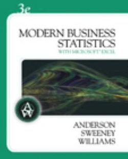 Modern Business Statistics (with Student CD-ROM)