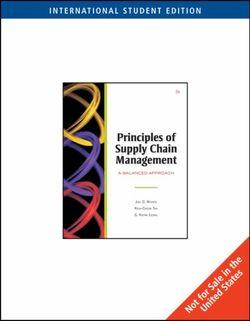 Principles of Supply Chain Management : A Balanced Approach, International Edition (with InfoTrac® and CD-ROM)