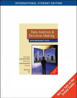 Data Analysis and Decision Making, Revised, International Edition (with CD-ROM and Decision Tools and Statistic Tools Suite)