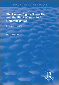 The Human Rights Committee and the Right of Individual Communication