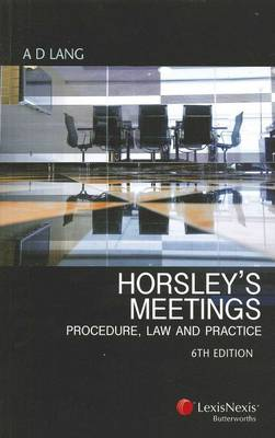 Horsley's Meetings: Procedure, Law and Practice