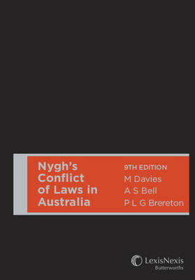 Nygh's Conflict of Laws in Australia 9th Edition