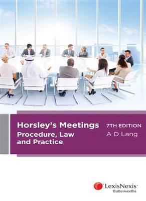 Horsley's Meetings: Procedure, Law and Practice, 7th edition