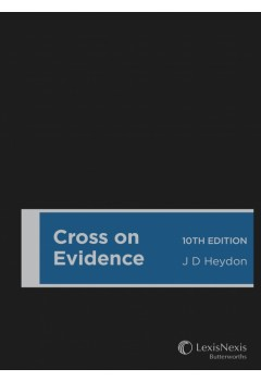 Cross on Evidence, 10th edition (Paperback)