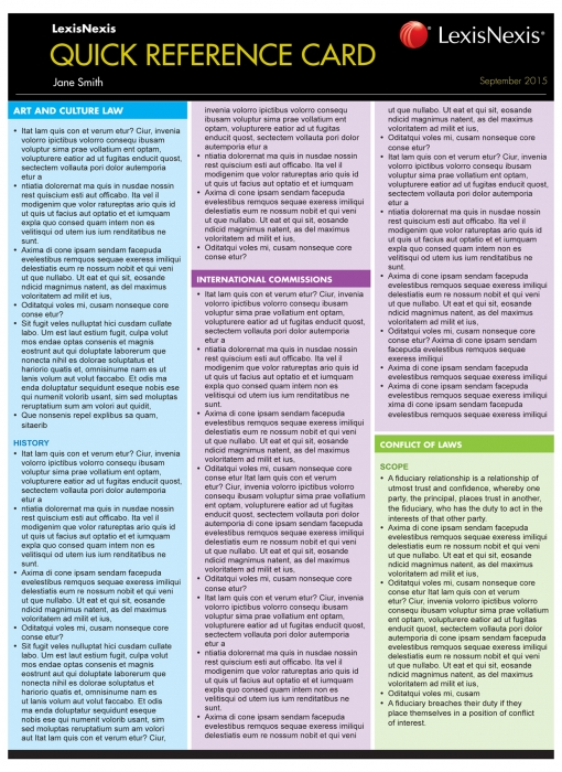 Quick Reference Card — Criminal Law for Common Law States