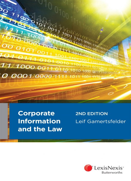 Corporate Information and the Law, 2nd edition