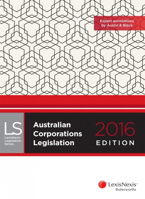 Australian Corporations Legislation 2016 edition