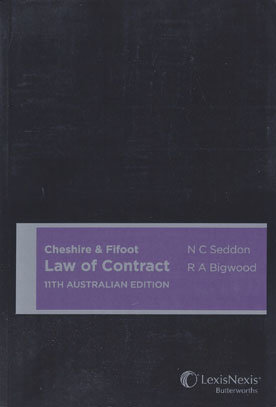 Cheshire & Fifoot Law of Contract, 11th Australian edition