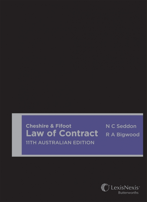 Cheshire & Fifoot Law of Contract, 11th Australian edition (Hardback)