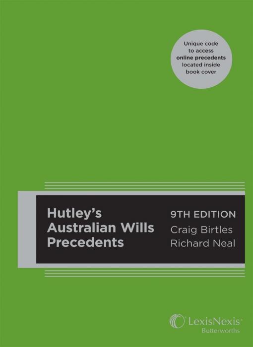 Hutley's Australian Wills Precedents, 9th Edition (Hard cover)