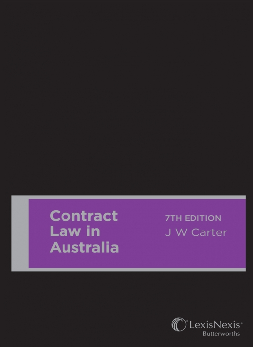 Contract Law in Australia, 7th edition (Hardback).