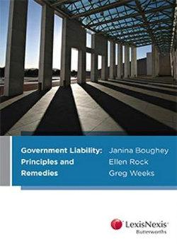 Government Liability: Principles and Remedies