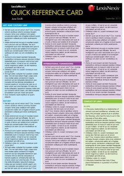 Quick Reference Card: Uniform Evidence Law, 3RD Edition
