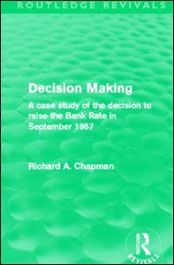 Decision Making (Routledge Revivals)