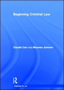 Beginning Criminal Law