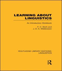 Learning about Linguistics (RLE Linguistics A: General Linguistics)