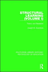 Structural Learning (Volume 1)