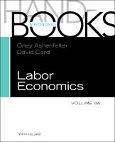 Handbook of Labor Economics, Volume 4A