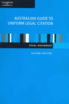 Aust Guide to Unif Legal Citation 2nd Ed