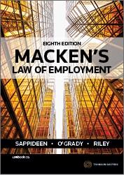 Macken's Law of Employment 8e