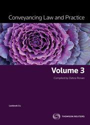 Conveyancing Law & Prac Vol 3