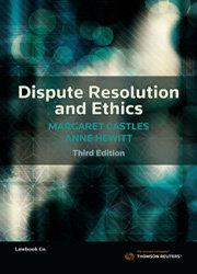 Dispute Resolution and Ethics 3e