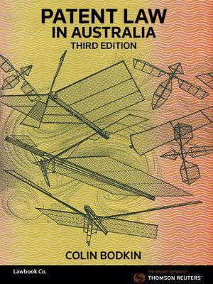 Patent Law in Australia 3e bk