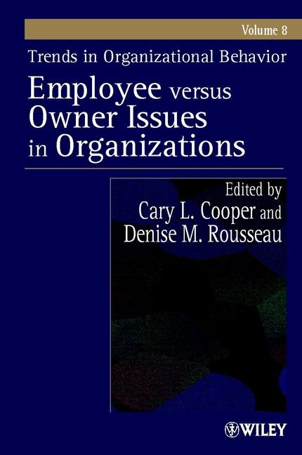 Trends in Organizational Behavior, Volume 8
