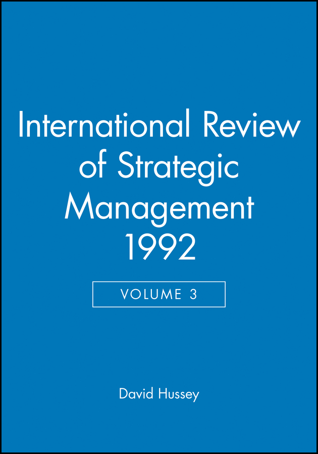 International Review of Strategic Management 1992