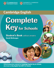 Complete Key for Schools Student's Book without Answers with CD-ROM