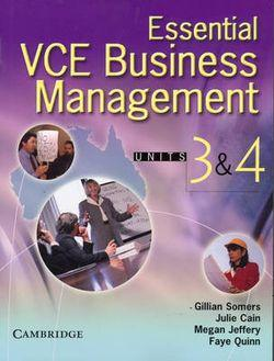 Essential VCE Business Management Units 3 and 4 Book with CD-ROM