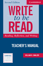 Write to be Read Teacher's Manual