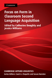 Focus on Form in Classroom Second Language Acquisition