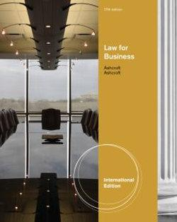 Law for Business, International Edition