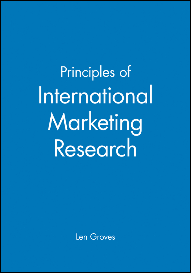 Principles of International Marketing Research