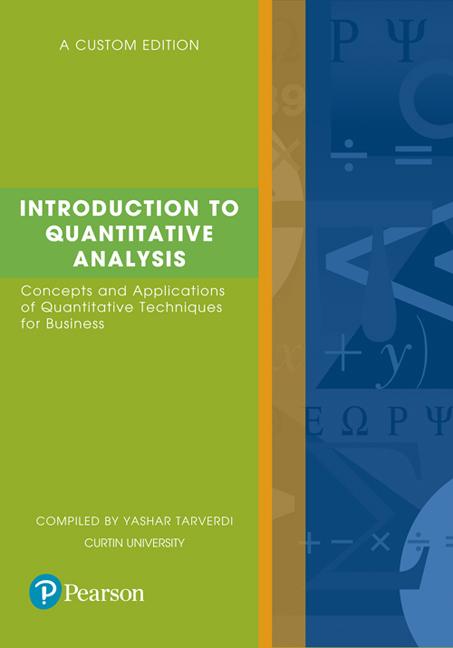 Introduction to Quantitative Analysis (Custom Edition)