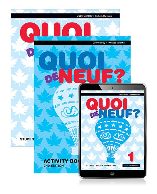 Quoi de neuf ? 1 Student Book, eBook and Activity Book